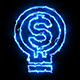 Dollar Blue Electric Fire Icon 05 - VideoHive Item for Sale