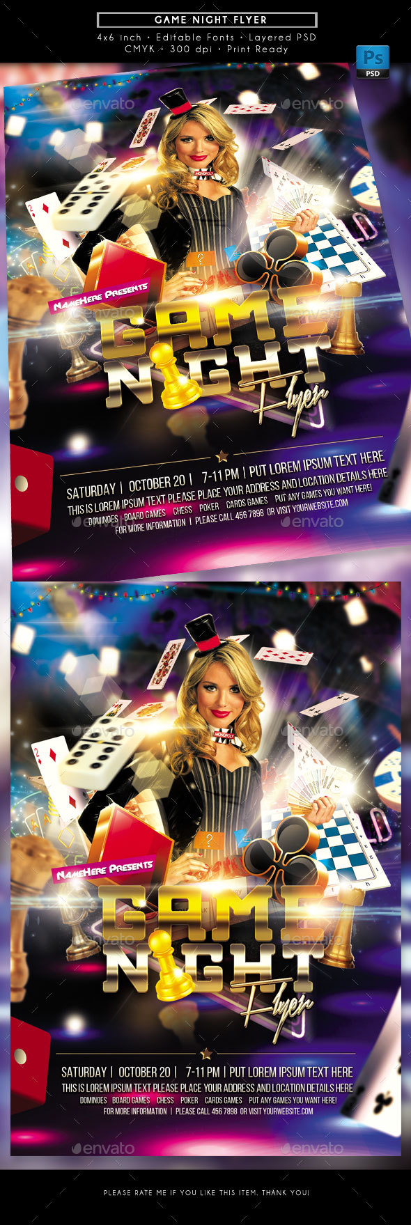 Game Night Flyer - Miscellaneous Events