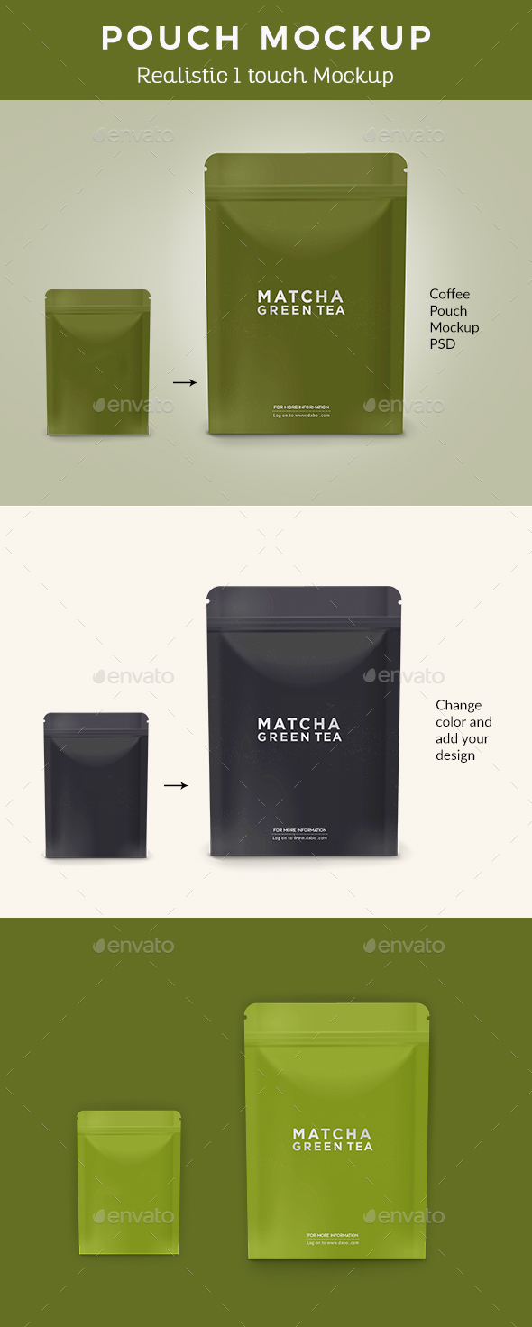 Coffee Pouch Mockup - Packaging Product Mock-Ups