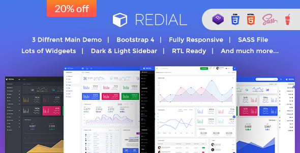 ThemeForest Redial Bootstrap 4 Admin Dashboard Template 21190062