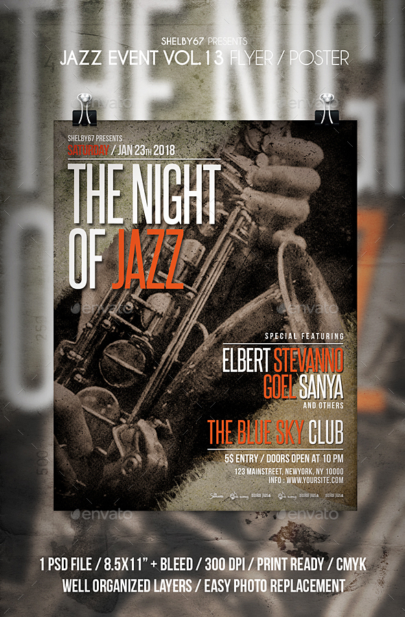 Jazz Event Flyer Vol 13 - Events Flyers