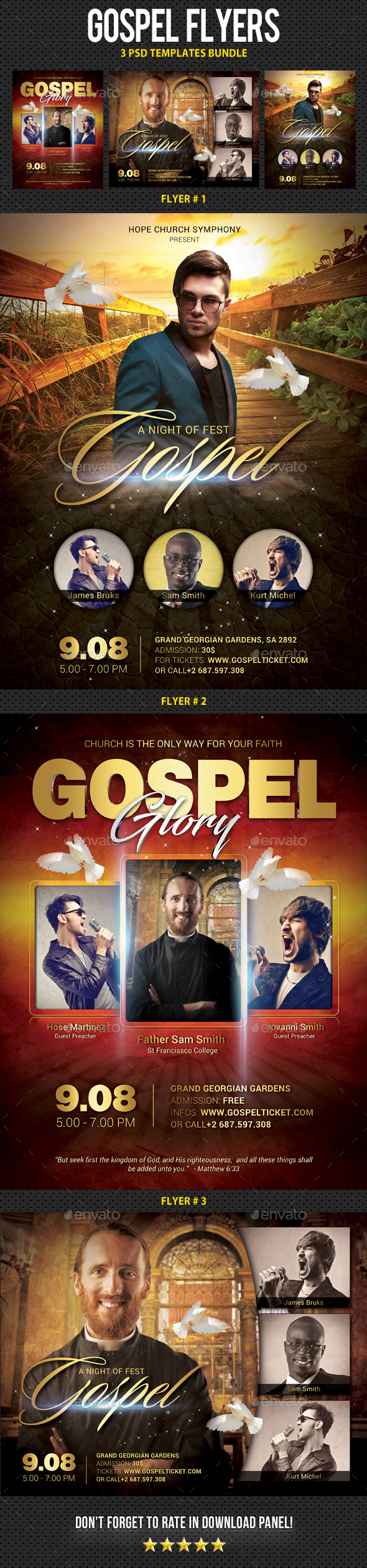 Gospel Flyer Templates - Church Flyers