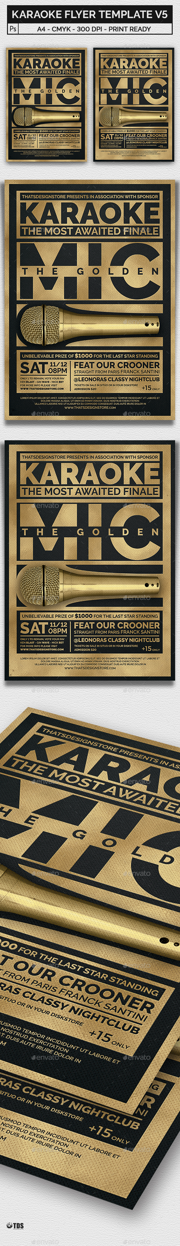 Karaoke Flyer Template V5 - Concerts Events