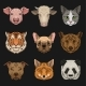 Wild and Domestic Animals Set