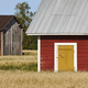 Traditional finnish red wooden farm in the countryside. Finland  - PhotoDune Item for Sale