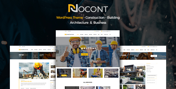 Nocont - Construction & Building WordPress Theme - Business Corporate