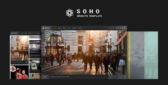 Soho - Fullscreen Photo & Video Web Template - Photography Creative