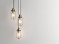 Three vintage lamps hanging from the ceiling with wall 3D renderind - PhotoDune Item for Sale
