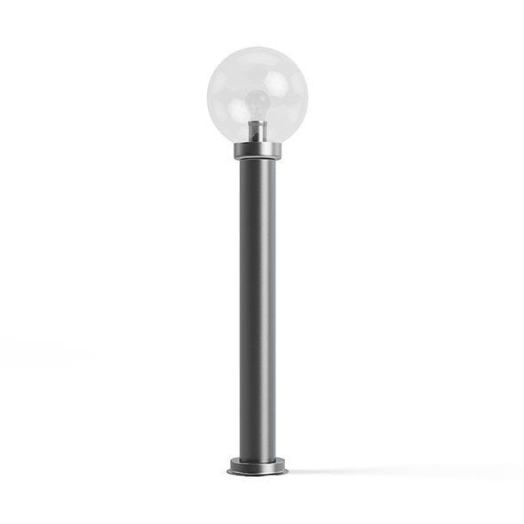 Round Exterior Standing Lamp 3D Model - 3DOcean Item for Sale