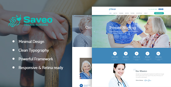 Image of Saveo | In-home Care & Private Nursing Agency WordPress Theme