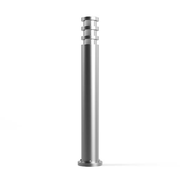Cylindrical Exterior Standing Lamp 3D Model - 3DOcean Item for Sale