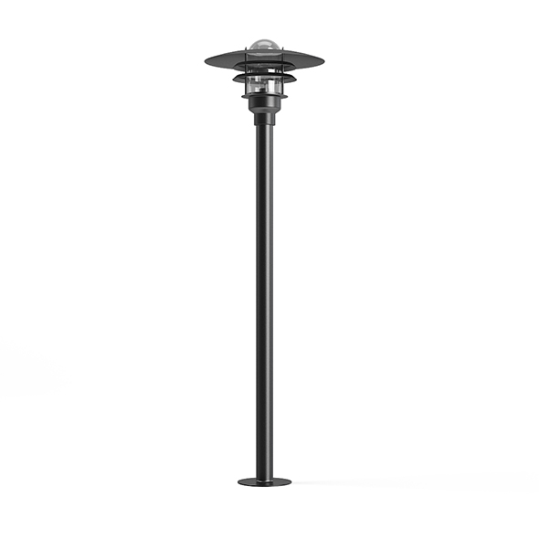 Standing Exterior Lamp 3D Model - 3DOcean Item for Sale