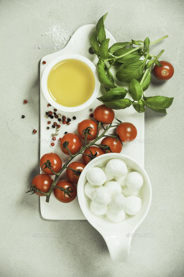 Caprese salad ingredients - Stock Photo - Images