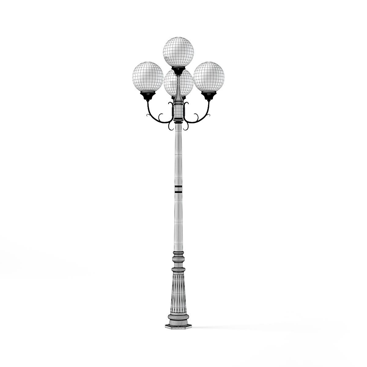Triple Park Lamp 3D Model