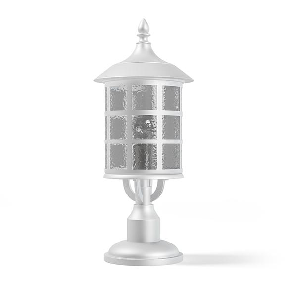 White Lantern 3D Model - 3DOcean Item for Sale