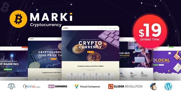 Marki - Cryptocurrency | Digital Marketing WordPress Theme