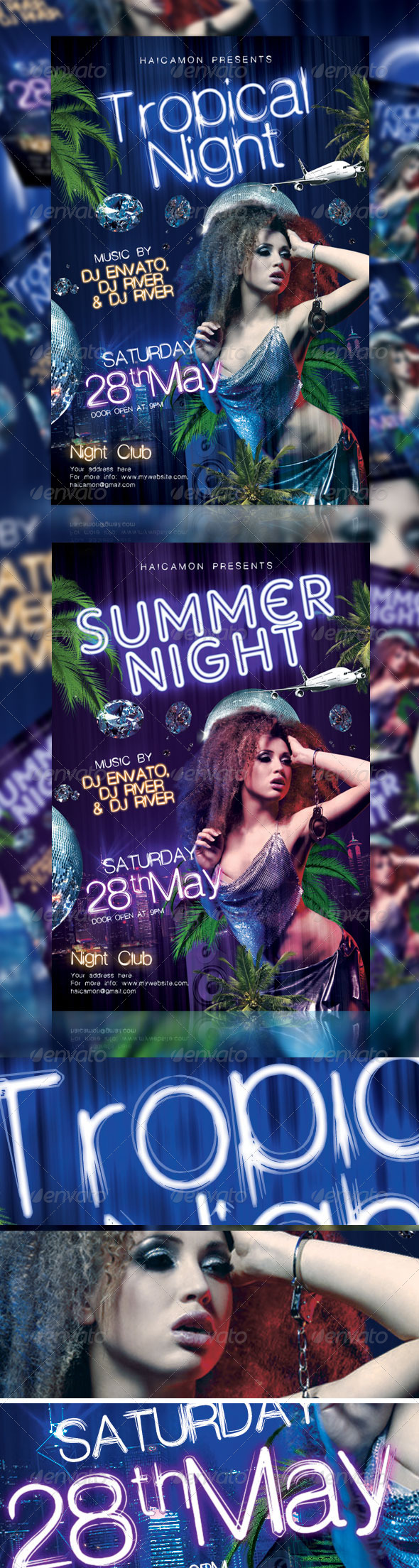 Tropical Night Party Flyer - Events Flyers