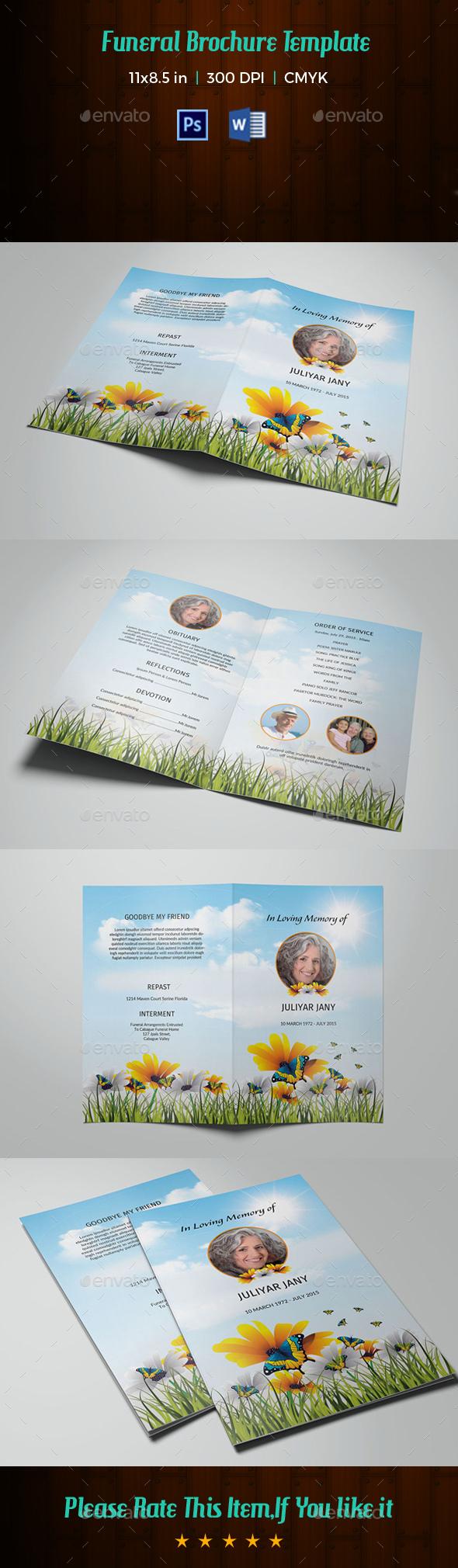 Funeral Program Template V210 - Informational Brochures