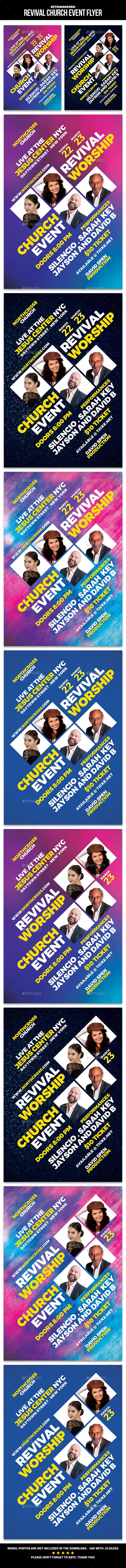 Revival Church Event Flyer - Church Flyers