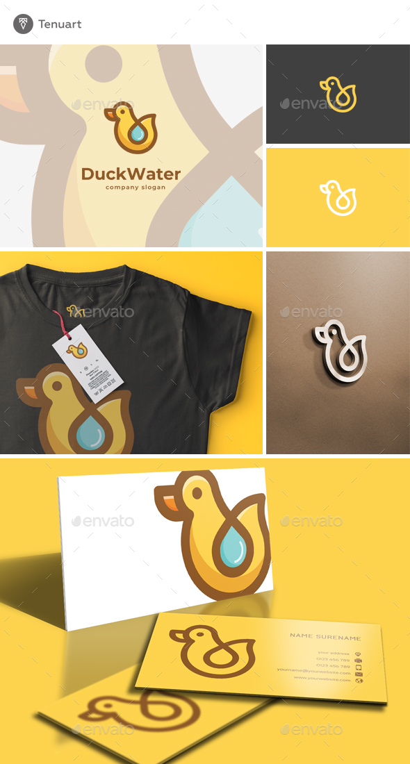 Duck Water Logo - Animals Logo Templates