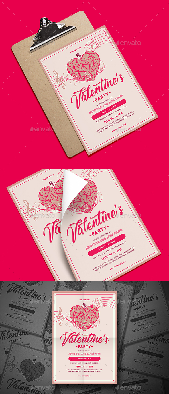 Valentine's Party Flyer - Events Flyers