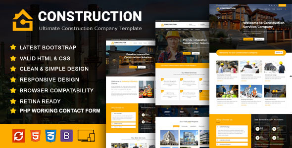 Construction - Construction Building Company Template