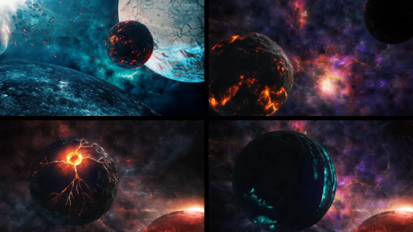 fantasy planets 1 pack of 4 by savagerus videohive