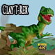 Clay Tyrannosaurus Rex - VideoHive Item for Sale