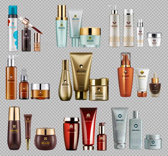 Vector Realistic Cosmetic Bottles Mockup Pack - Health/Medicine Conceptual