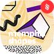 Seamless Abstract Patterns Memphis Geo Shapes Backgrounds