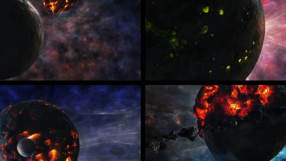 fantasy planets 2 pack of 4 by savagerus videohive