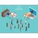 Inbound vs Outbound Marketing Isometric Vector - GraphicRiver Item for Sale