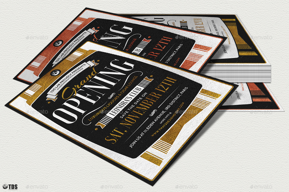 Grand Opening Flyer Template by lou606 | GraphicRiver