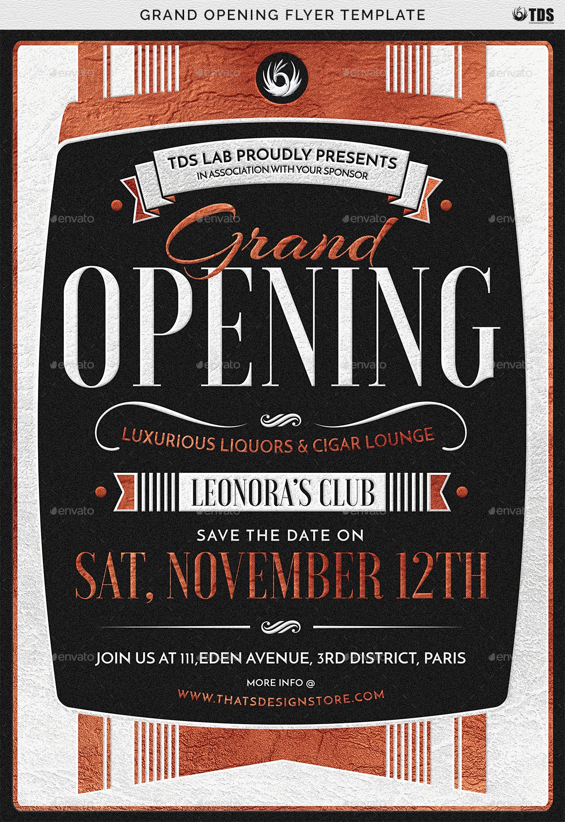 grand opening flyer template by lou606