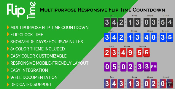 CodeCanyon Flip Time Multipurpose Responsive Flip Time Countdown 21295029