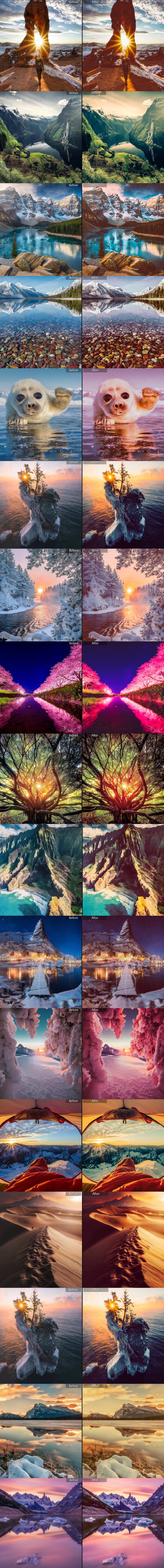 20 LR Sunlight Presets - Landscape Lightroom Presets