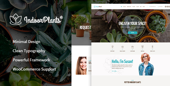 Indoor Plants | Gardening & Houseplants Theme - Retail WordPress