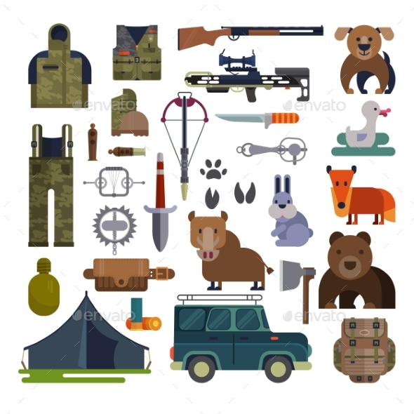 Vector Hunting Ammunition or Hunters - Sports/Activity Conceptual
