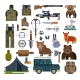 Vector Hunting Ammunition or Hunters - GraphicRiver Item for Sale