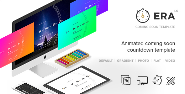 ERA - Animated Coming Soon Countdown Template by creative_era