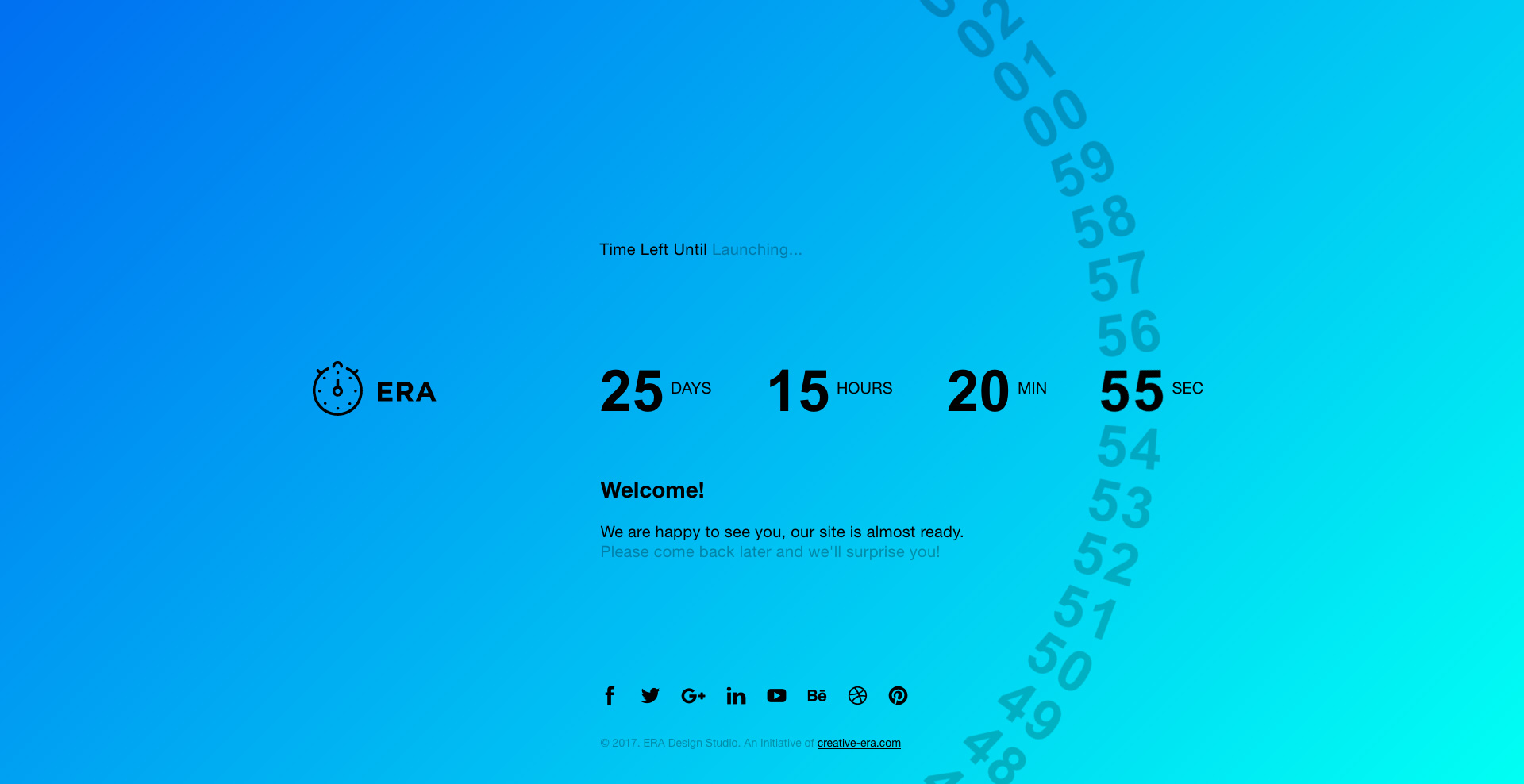 Era Animated Coming Soon Countdown Template By Creativeera