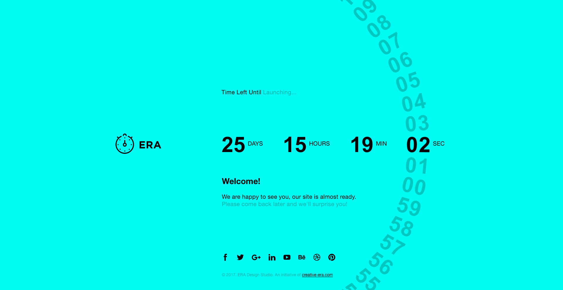 era animated coming soon countdown template
