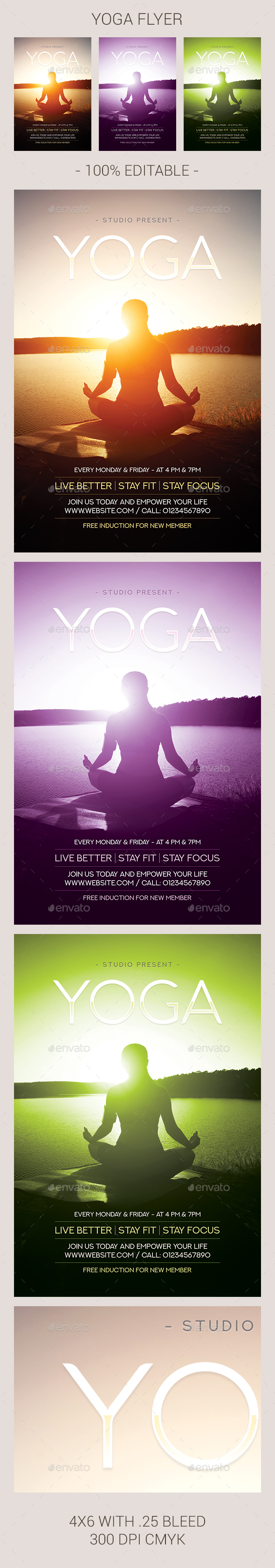 Yoga Flyer - Flyers Print Templates