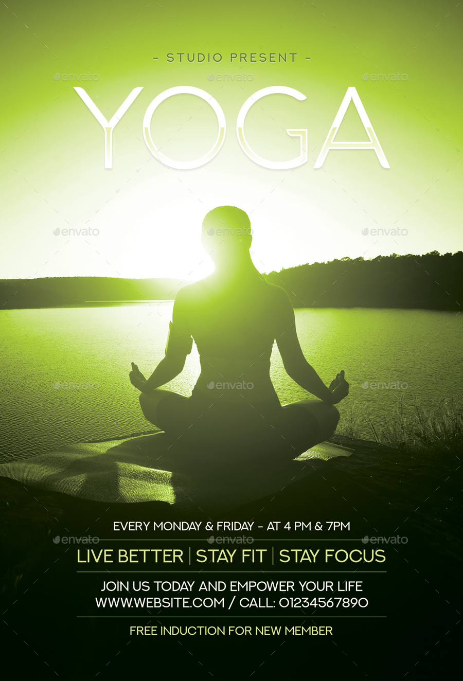 Yoga Flyer by sunilpatilin | GraphicRiver