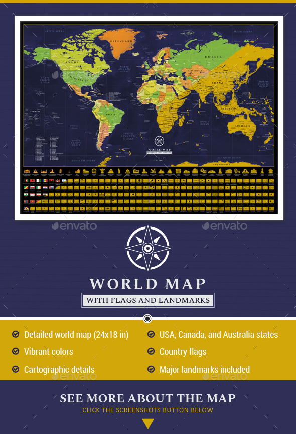 Scratch off detailed world map poster by adriandragne graphicriver scratch off detailed world map poster miscellaneous conceptual gumiabroncs Image collections