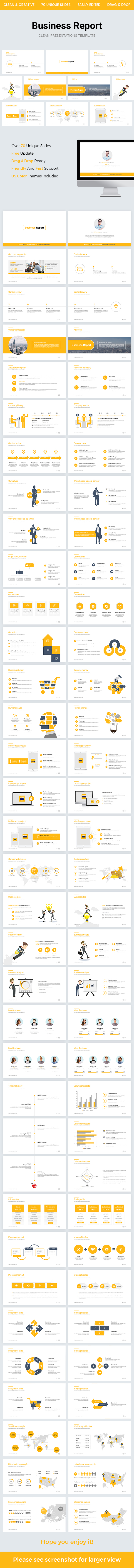 Business Report PowerPoint Template 2018 - Business PowerPoint Templates
