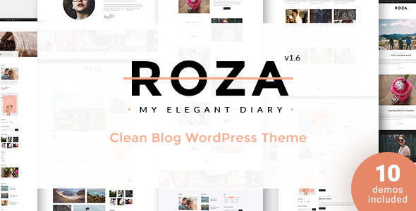 Roza – Elegant Diary WordPress Theme - Personal Blog / Magazine