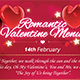 Romantic Valentine Menu - GraphicRiver Item for Sale