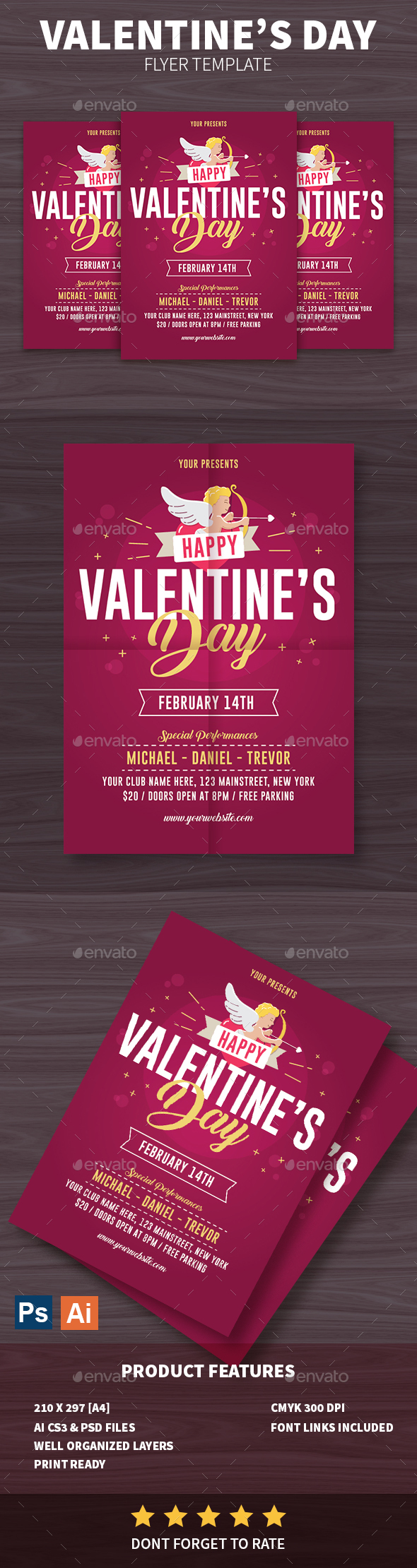 Happy Valentine's Day Flyer - Events Flyers
