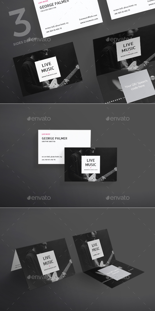 Live Music Business Card - Creative Business Cards
